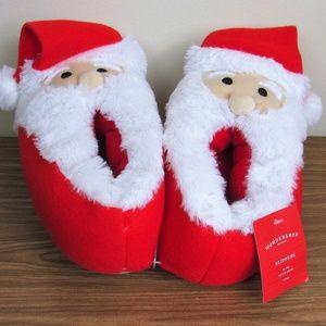Santa Slippers Women's Medium 7-8